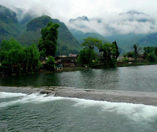 太平河漂流旅游景点风景